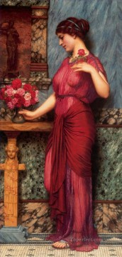 lady - Offering to Venus Neoclassicist lady John William Godward
