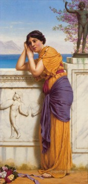 AX Painting - Rich Gifts Wax Poor When Lovers Prove Unkind Neoclassicist lady John William Godward