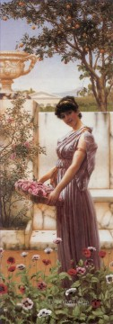 The Flowers of Venus 1890 Neoclassicist lady John William Godward Oil Paintings