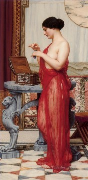 new orleans Painting - The New Perfume Neoclassicist lady John William Godward