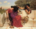 The Old Old Story Neoclassicist lady John William Godward