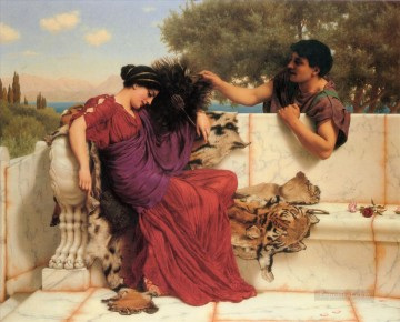 The Old Old Story Neoclassicist lady John William Godward Oil Paintings