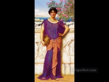girl lady woman women Painting - The Tambourine Girl21906 Neoclassicist lady John William Godward