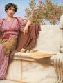 Tranquillity 1914 right Neoclassicist lady John William Godward