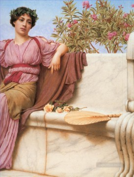 lady - Tranquillity 1914 right Neoclassicist lady John William Godward
