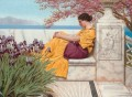 Under the Blossom that Hangs on the Bough Neoclassicist lady John William Godward