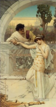 Yes or No Neoclassicist lady John William Godward Oil Paintings