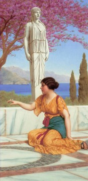 Ancient Canvas - ancient Pastimes Neoclassicist lady John William Godward
