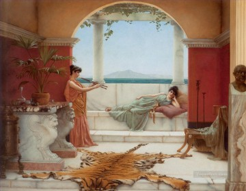 lady - The Sweet Siesta of a Summer Day Neoclassicist lady John William Godward