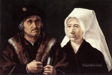 An Elderly Couple Jan Mabuse Oil Paintings