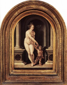 venus Painting - Venus and Cupid Jan Mabuse