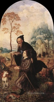 St Anthony with a Donor Jan Mabuse Oil Paintings