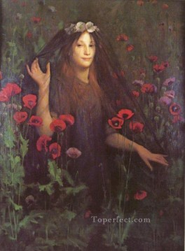 Thomas Cooper Gotch Painting - Death The Bride Pre Raphaelite Thomas Cooper Gotch