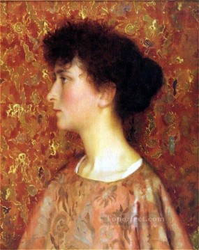 Thomas Cooper Gotch Painting - Study Of A Young Woman Pre Raphaelite Thomas Cooper Gotch