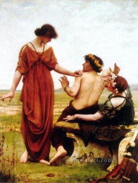 Thomas Cooper Gotch Painting - Destiny Pre Raphaelite Thomas Cooper Gotch