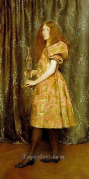Thomas Cooper Gotch Painting - Heir To All The Ages Pre Raphaelite Thomas Cooper Gotch