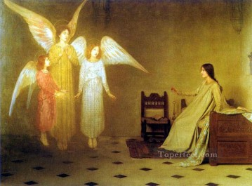 Thomas Cooper Gotch Painting - The Awakening angel Thomas Cooper Gotch