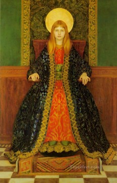 Thomas Cooper Gotch Painting - The Child Enthroned Pre Raphaelite Thomas Cooper Gotch