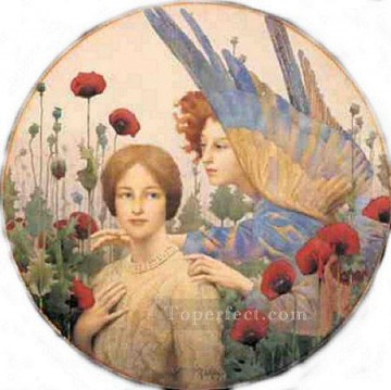 Thomas Cooper Gotch Painting - The Message Pre Raphaelite Thomas Cooper Gotch