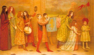 Thomas Cooper Gotch Painting - The Pageant Of Childhood Pre Raphaelite Thomas Cooper Gotch