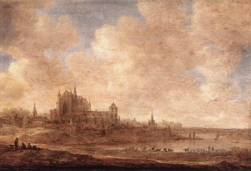 Jan van Goyen Painting - View of Leiden Jan van Goyen