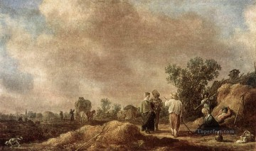 Jan van Goyen Painting - Haymaking Jan van Goyen
