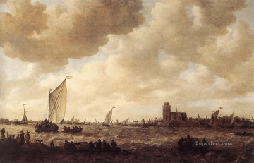 Jan van Goyen Painting - View of Dordrecht Jan van Goyen