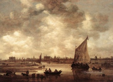 Jan van Goyen Painting - View of Leiden 1650 Jan van Goyen