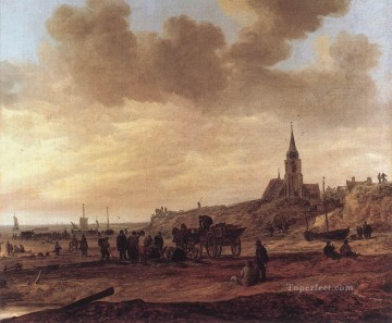 Jan van Goyen Painting - Beach at Scheveningen Jan van Goyen