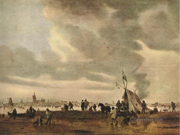 Jan van Goyen Painting - View of The Hague in Winter Jan van Goyen