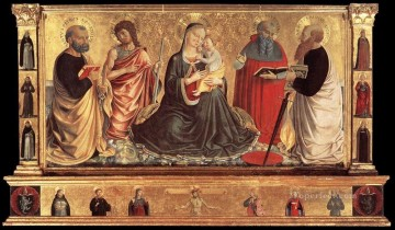 Benozzo Gozzoli Painting - Madonna and Child with Sts John the Baptist Peter Jerome and Paul Benozzo Gozzoli