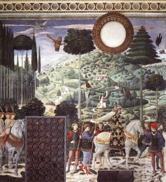 Benozzo Gozzoli Painting - Procession of the Middle King south wall Benozzo Gozzoli
