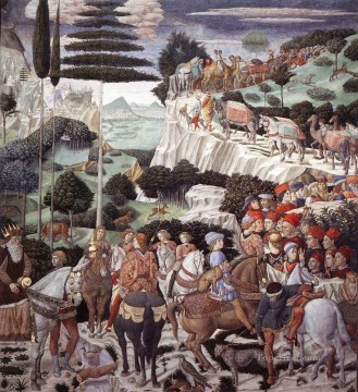 Benozzo Gozzoli Painting - Procession of the Oldest King west wall Benozzo Gozzoli