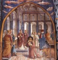 Scenes from the Life of St Francis Scene 9 north wall Benozzo Gozzoli