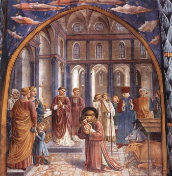 Benozzo Gozzoli Painting - Scenes from the Life of St Francis Scene 9 north wall Benozzo Gozzoli