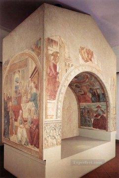 Benozzo Gozzoli Painting - Shrine of the Visitation Benozzo Gozzoli