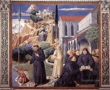 The Parable of the Holy Trinity scene 12south wall Benozzo Gozzoli Oil Paintings