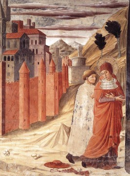 Benozzo Gozzoli Painting - The Departure of St Jerome from Antioch Benozzo Gozzoli