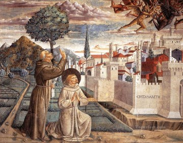 Scenes from the Life of St Francis Scene 6north wall Benozzo Gozzoli Oil Paintings