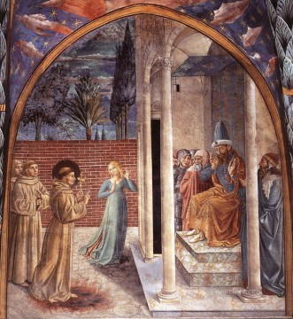 Benozzo Gozzoli Painting - Scenes from the Life of St Francis Scene 10north wall Benozzo Gozzoli