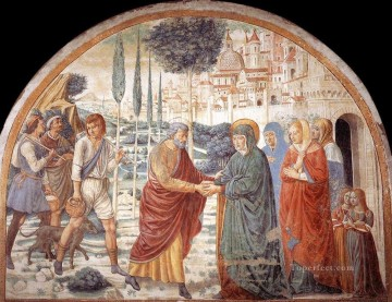 Benozzo Gozzoli Painting - Meeting at the Golden Gate Benozzo Gozzoli