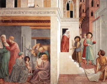 Scenes from the Life of St Francis Scene 1north wall Benozzo Gozzoli Oil Paintings