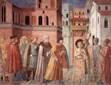 Benozzo Gozzoli Painting - Scenes from the Life of St Francis Scene 3south wall Benozzo Gozzoli