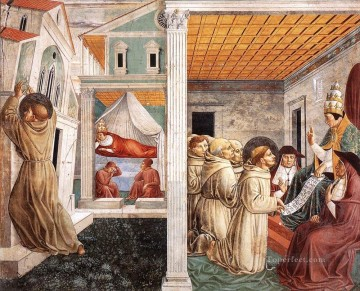 Scenes from the Life of St Francis Scene 5north wall Benozzo Gozzoli Oil Paintings