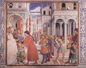 The School of Tagaste Scene 1North Wall Benozzo Gozzoli Oil Paintings