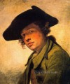 A Young Man in a Hat portrait Jean Baptiste Greuze