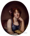 Portrait Of A Young Woman Said To Be The Artists Daughter figure Jean Baptiste Greuze