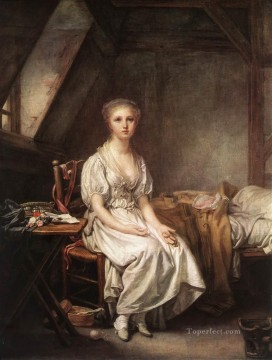 plain Art - The Complain of the Watch portrait Jean Baptiste Greuze