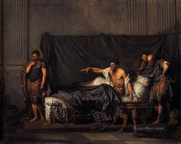 Baptiste Oil Painting - Septimius Severus and Caracalla figure Jean Baptiste Greuze
