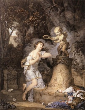 Cupid Works - Votive Offering to Cupid figure Jean Baptiste Greuze
